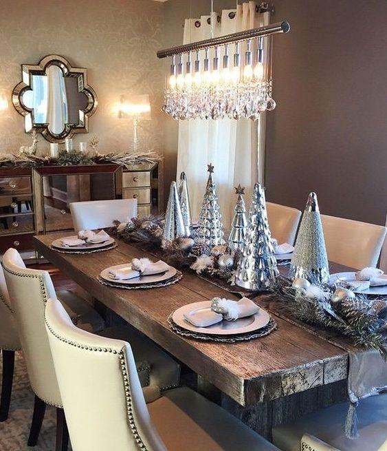 ideas para decorar de forma elegante el comedor en navidad