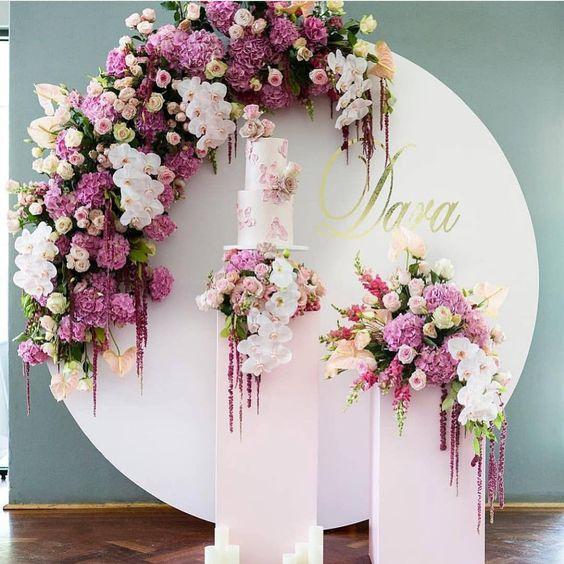 mamparas con flores naturales para fiestas
