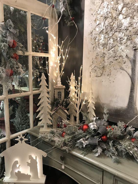 nacimientos navideños elegantes y modernos con madera