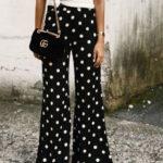pantalones con lunares para mujeres con estilo