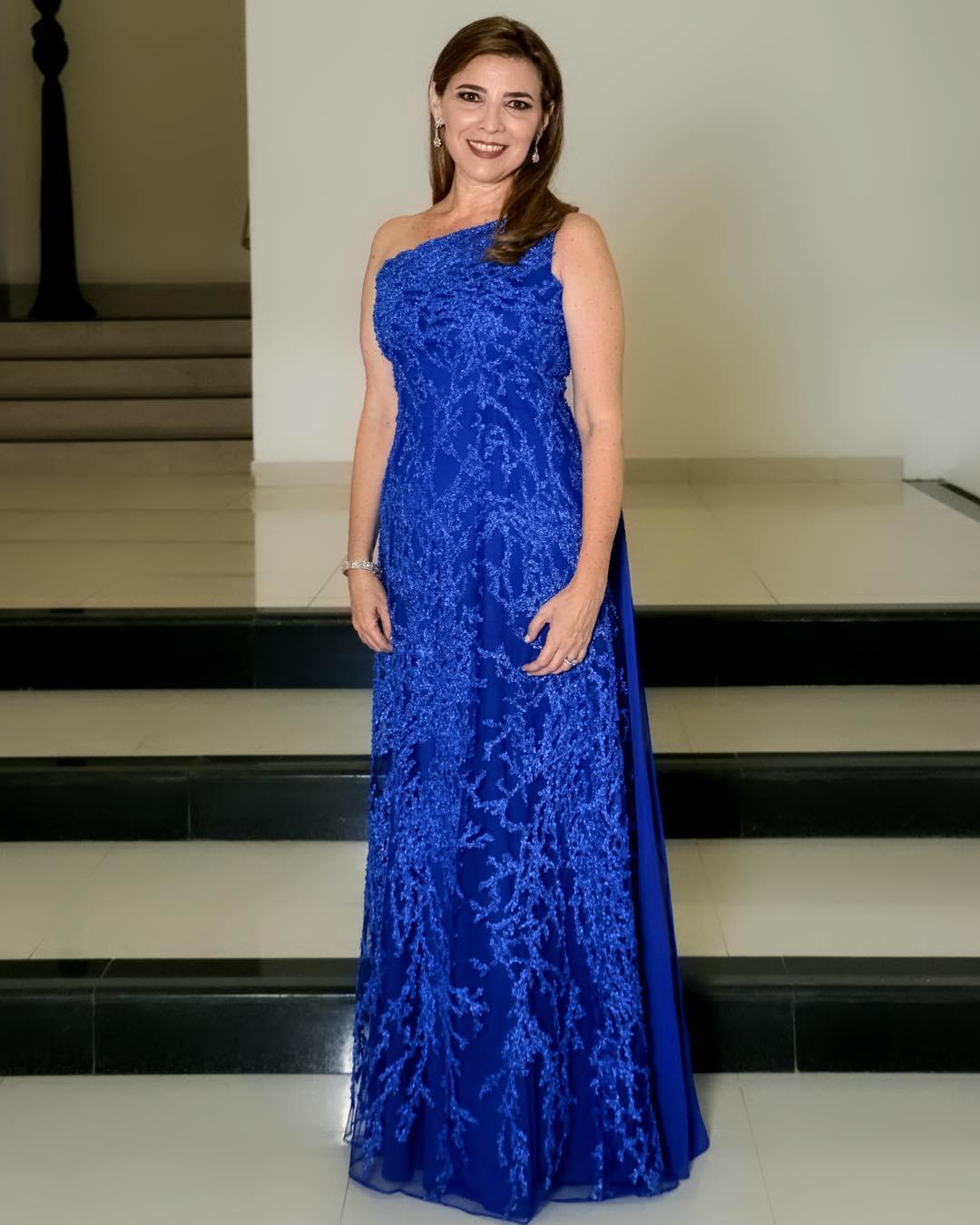 vestidos largos y elegantes para la mama de la quinceañera