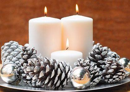 Aprende a Crear un bello arreglo navideño con un platón o bandeja