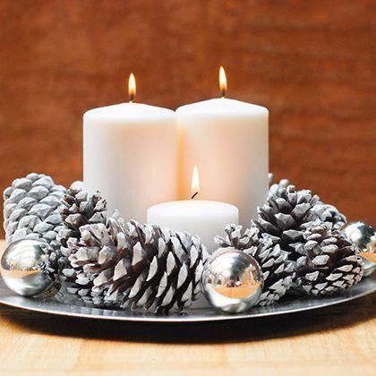 aprende a crear un bello arreglo navideño con un platon o bandeja