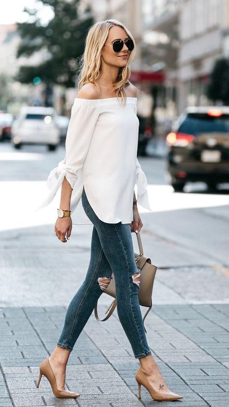 combina los jeans altos con blusas largas para esconder la barriga