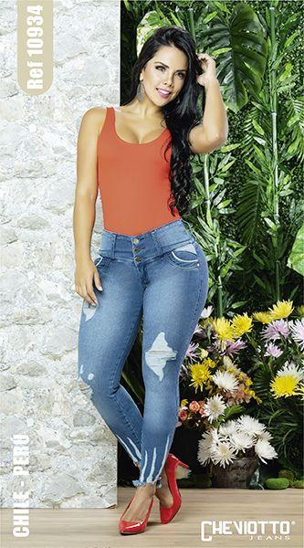 elije jeans corte alto para esconder la barriga
