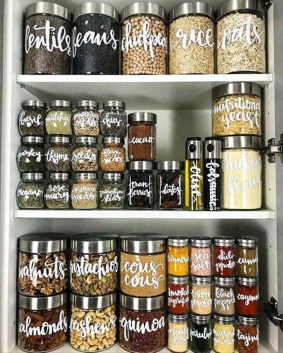 tipos de contenedores para organizar la alacena