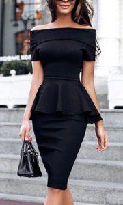 utiliza vestidos peplum para disimular la barriga