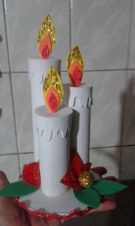 velas de foami navideñas pequeñas