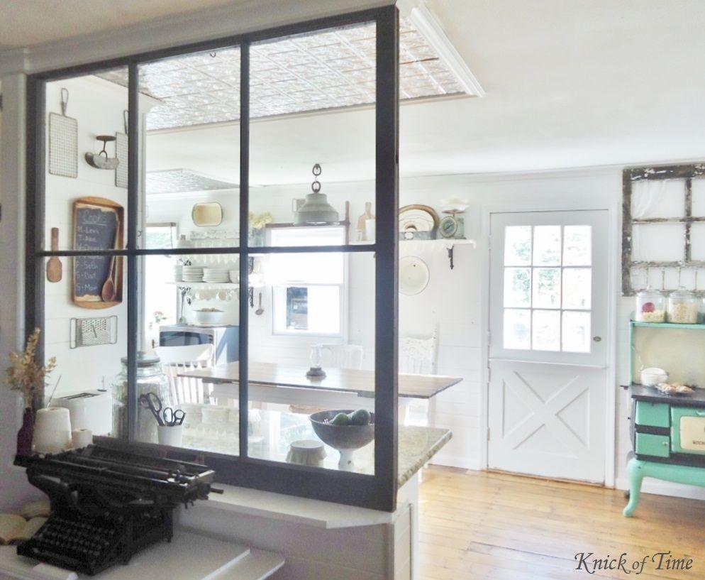 Ideas para separar ambientes con ventanas divisorias