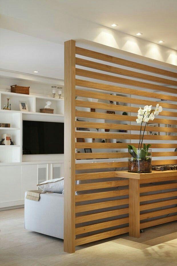 Ideas para separar ambientes con paneles de madera