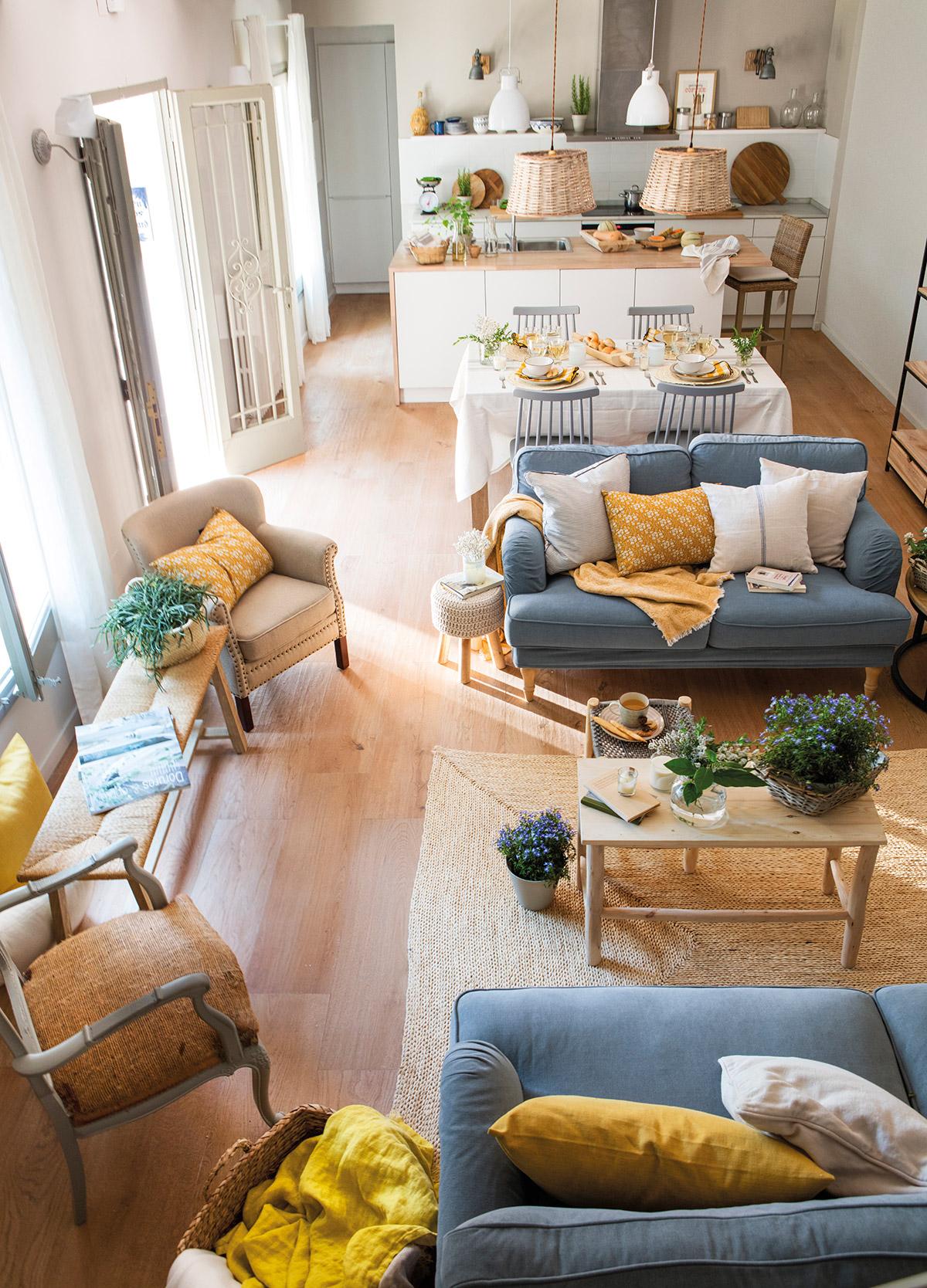 Diseño interior de una casa con espacios reducidos