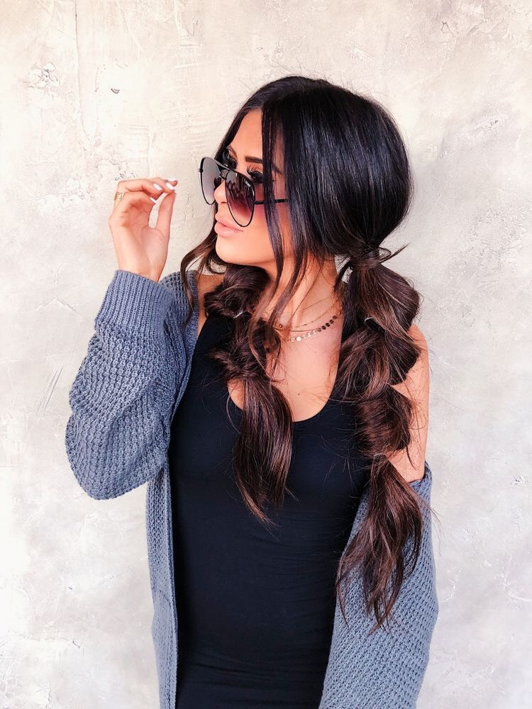 Peinado de burbujas juvenil