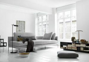 Sofá moderno gris