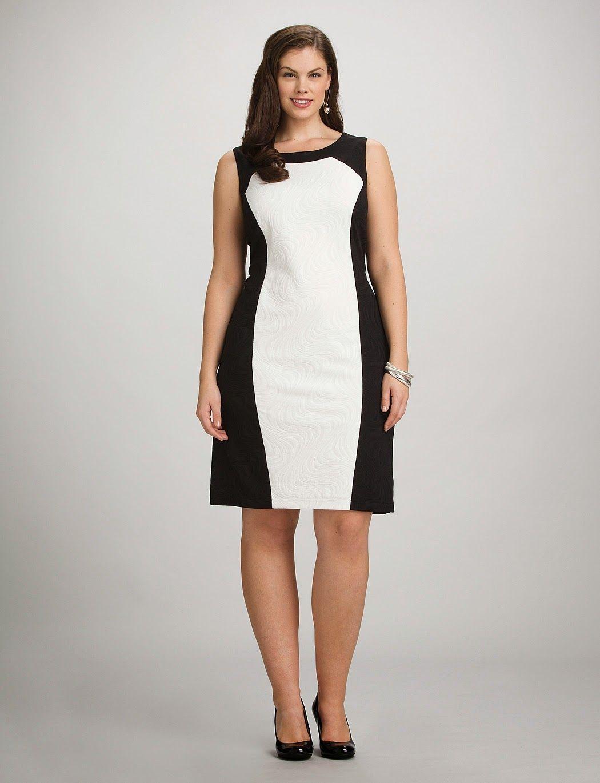 Usar vestidos color blanco y negro para que tu cintura se vea mas chica