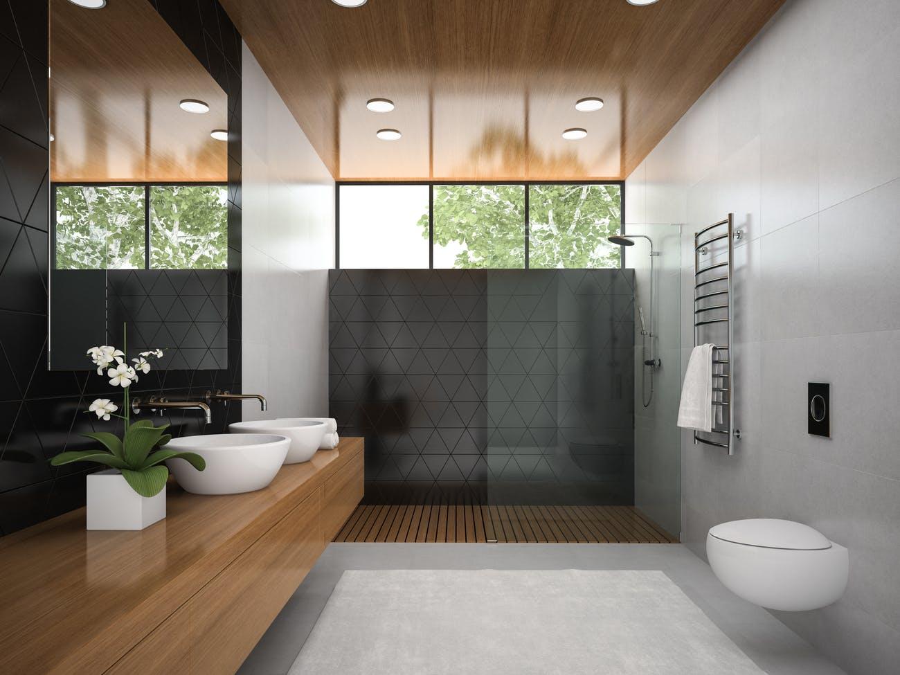 Decoración y diseño de baños con dos lavabos