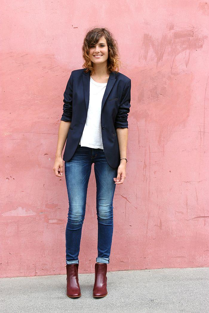 Outfits para mujeres de 30 años con botines de tacón