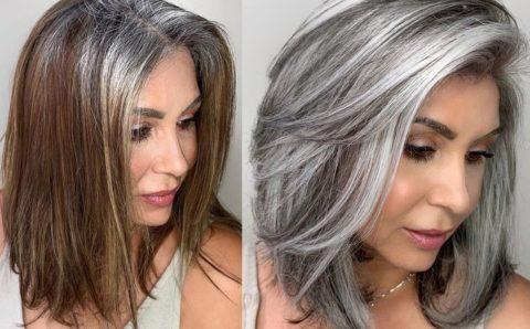 Tono de cabello silver – Si estas cansada de batallar con las canas