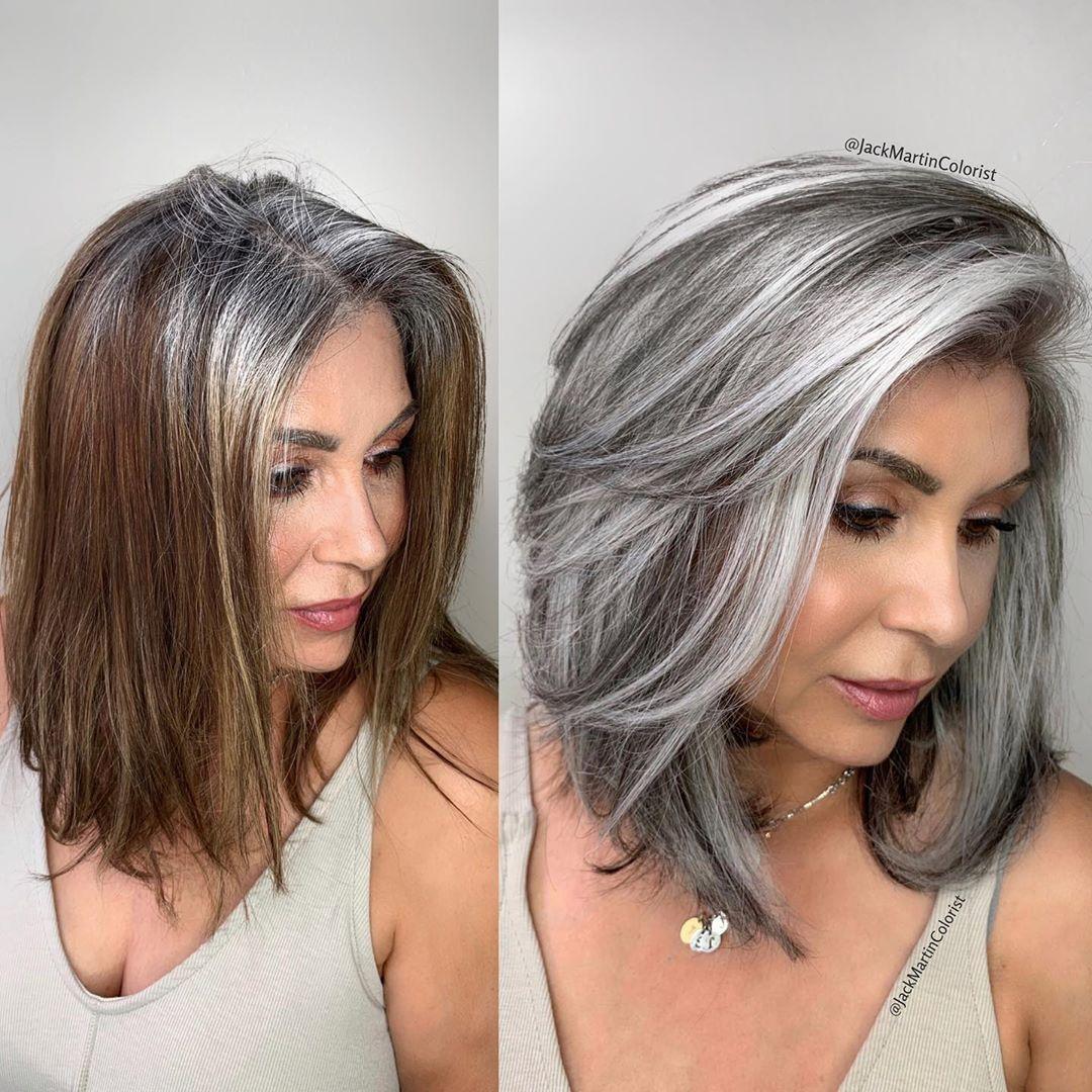 Tono de cabello silver - Si estas cansada de batallar con las canas