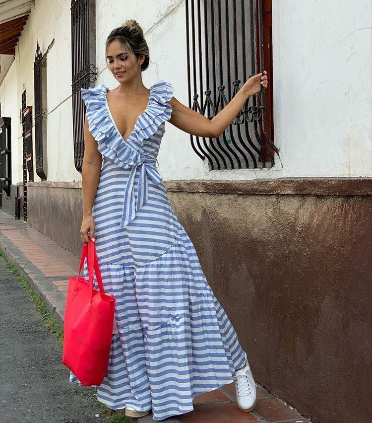 Vestidos con rayas para usar en primavera