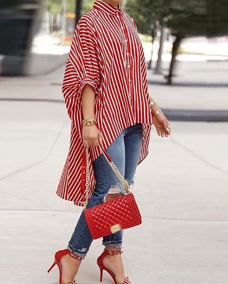 Las maxi blusas nuevamente en tendencia para esta temporada - usalas con tacones