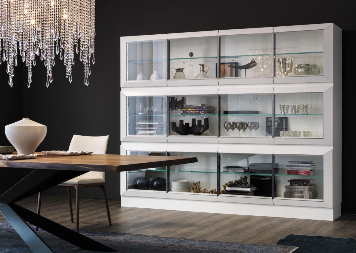 Diseños de vitrinas modernas para decorar comedores