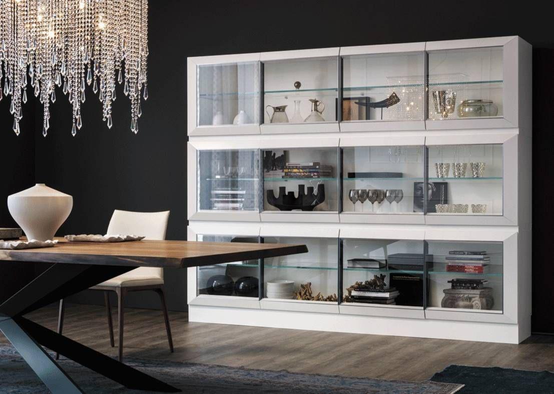 Diseños de vitrinas modernas para decorar comedores - vitrinas grandes