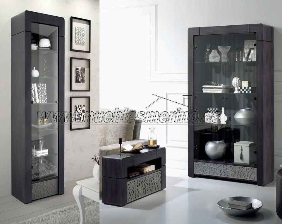 Vitrinas elegantes en color gris oscuro