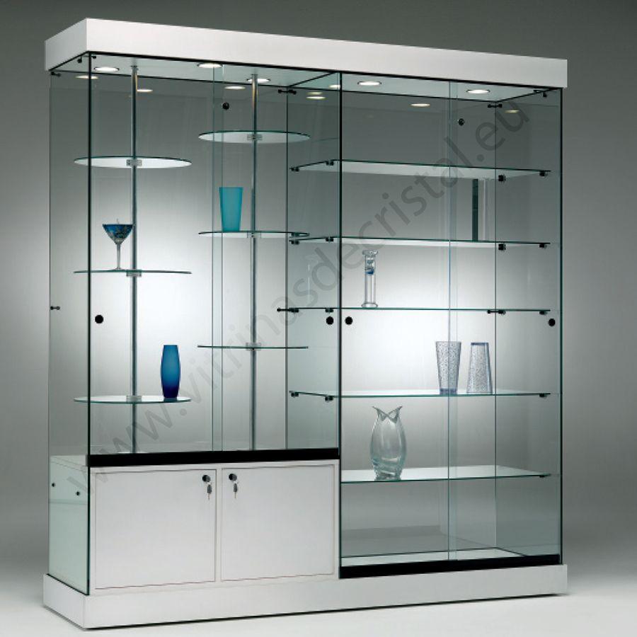 Vitrina de cristal minimalista
