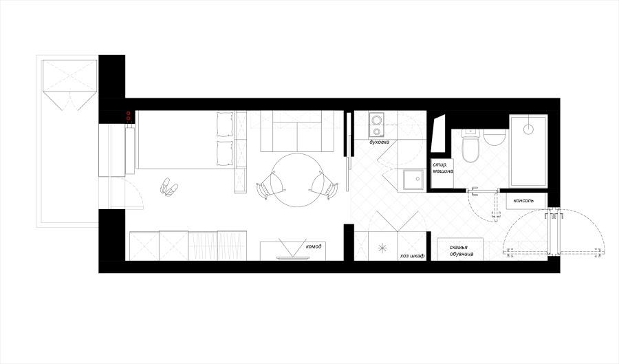 Ideas de decoración para un pequeño apartamento de 25 m2