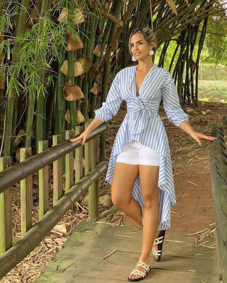 Maxi blusas con shorts