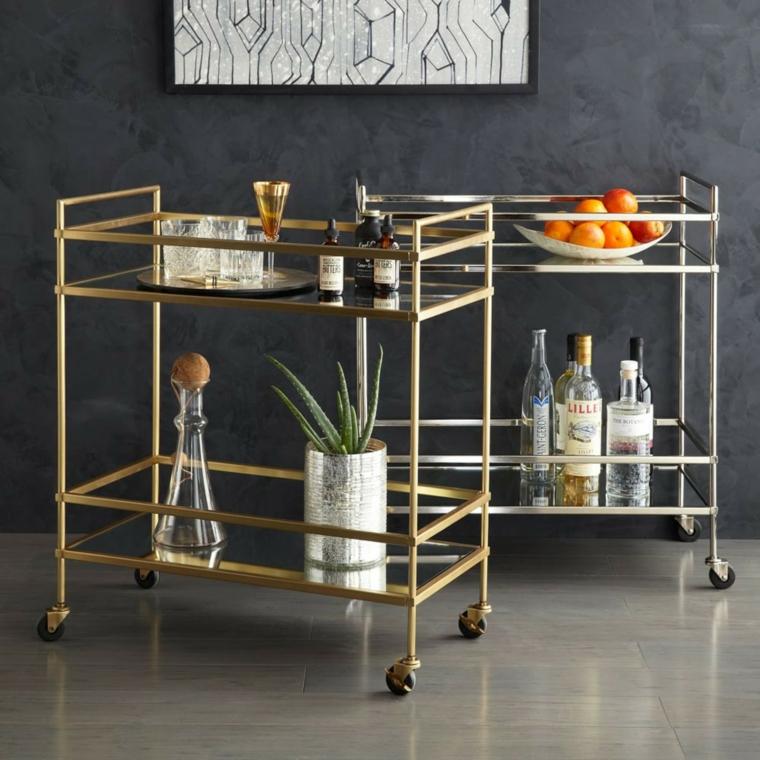 Muebles auxiliares para la cocina - mesas móviles