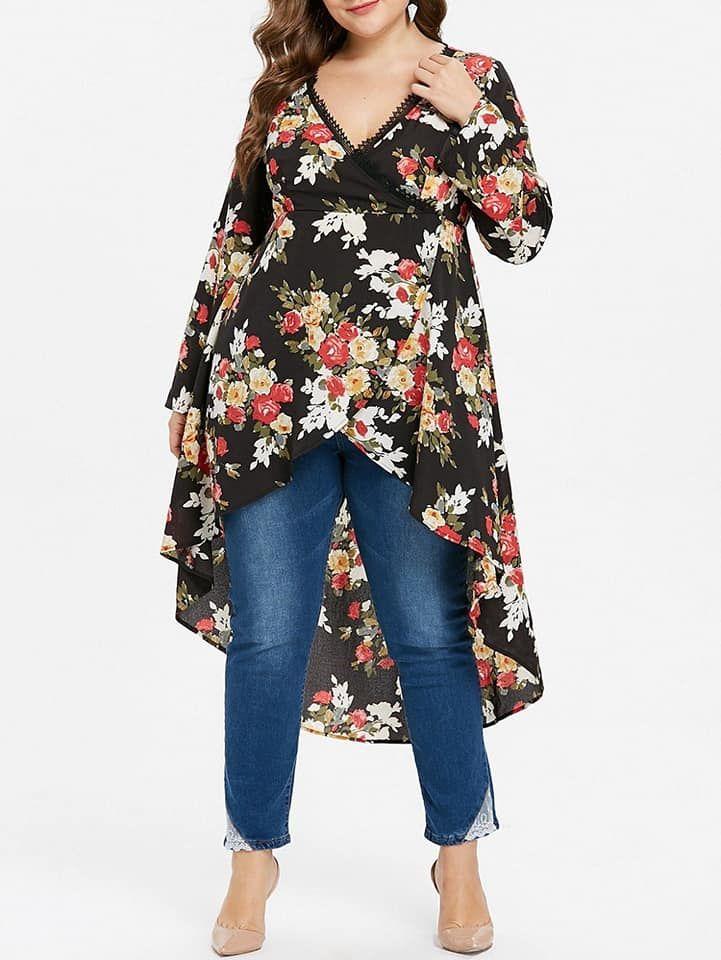 Outfits con maxi blusas de estampado floral