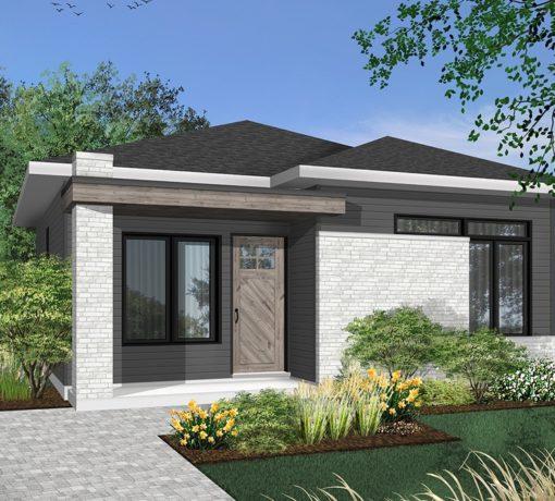Diseño de casa 60 m2 con posibilidad de ampliación