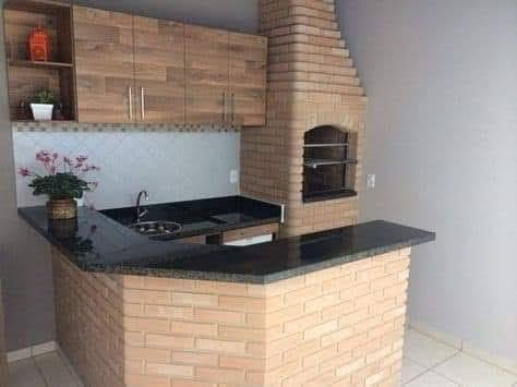 Hornos y fogones estilo rustico en áreas con techo