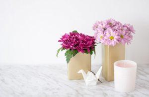 Manualidades fáciles para cuarentena- macetas con envases de cartón