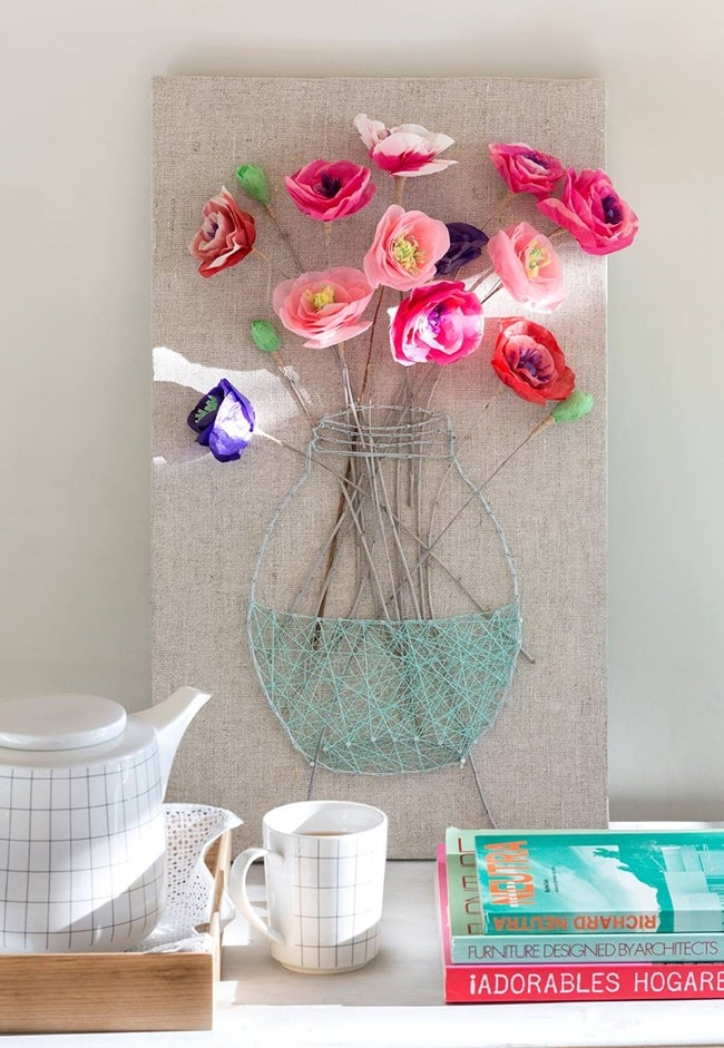 Manualidades flores de papel durante esta cuarentena