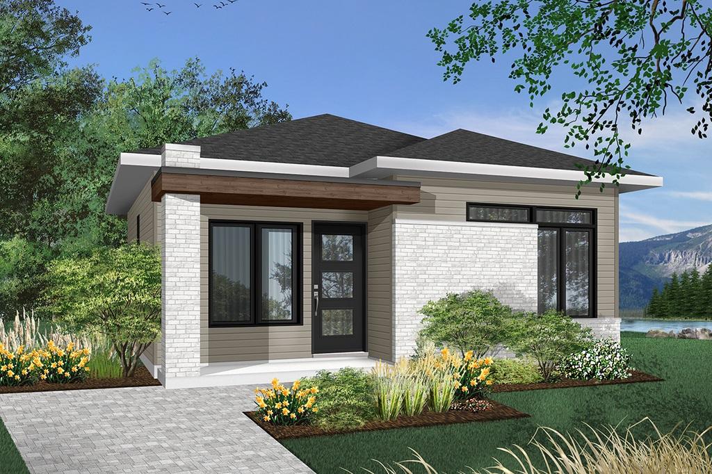 Plano de casa 60 m2 con posibilidad de ampliación