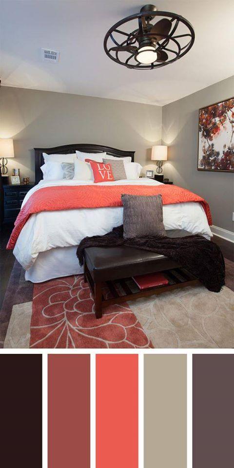 Combinación de colores para dormitorios matrimoniales