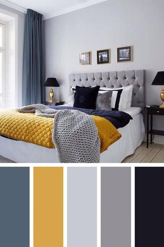 Combinación de colores para dormitorios modernos