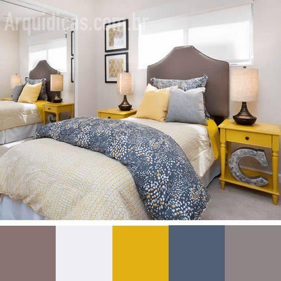 Combinación de colores para dormitorios pequeños