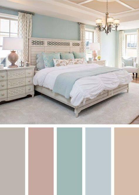 Combinación de colores para dormitorios relajantes