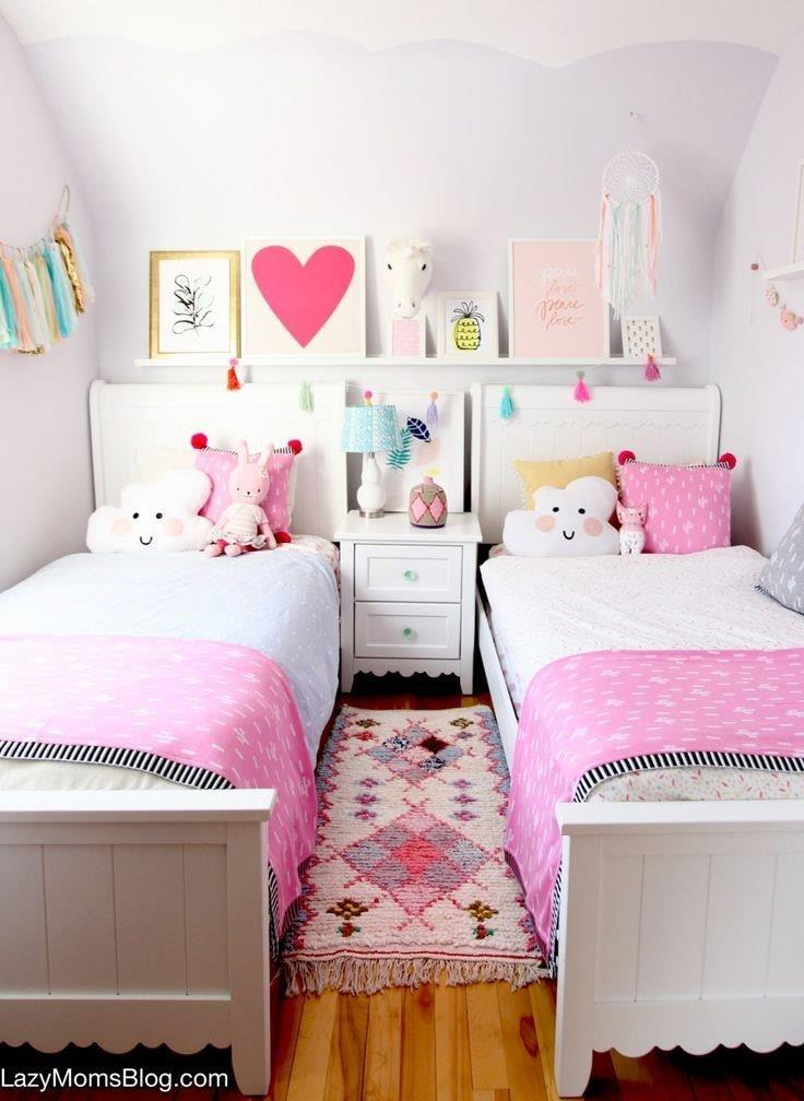 Habitaciones para niñas en espacios pequeños