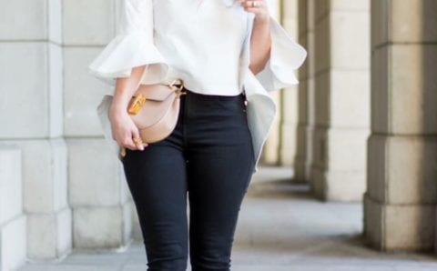 Leggins negros para lucir con mucho estilo si eres una mujer de 40 años o más