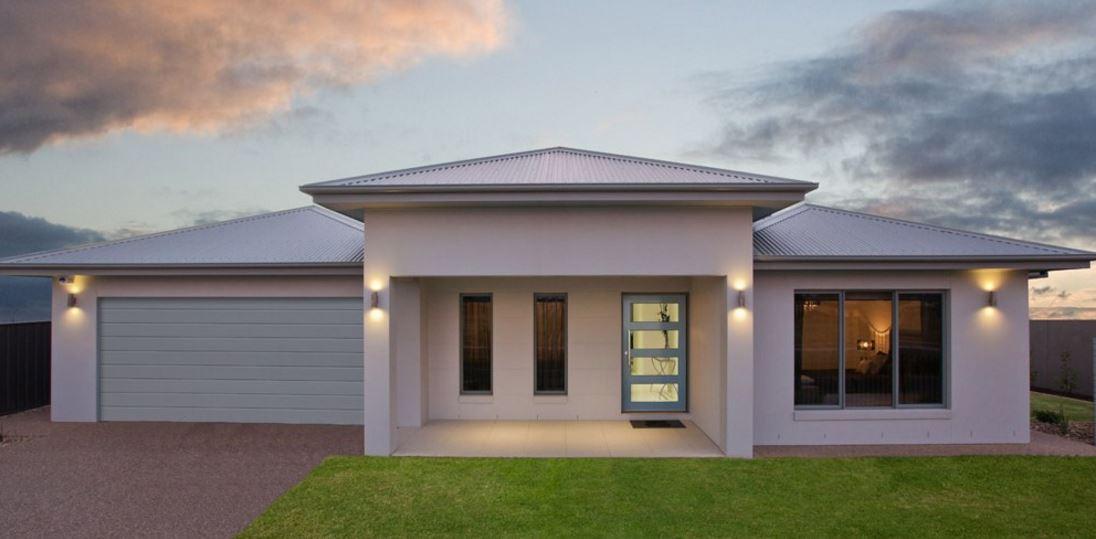 7 Planos de casas modernas de 1 piso y cochera doble con porche amplio