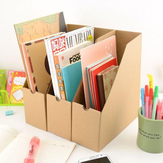 Archivero de cartón para espacio de trabajo