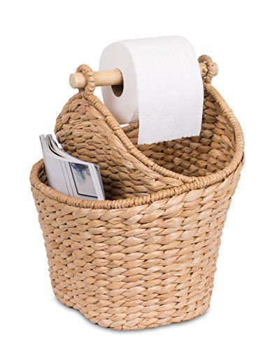 Dónde poner el papel higiénico en material de mimbre