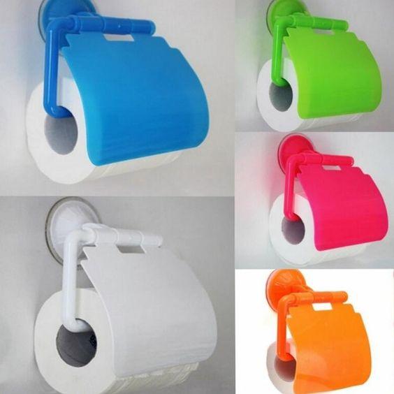 Dónde poner el papel higiénico en material de plástico