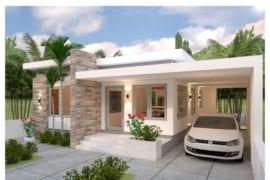 Planos de casa 10x13 con 3 habitaciones
