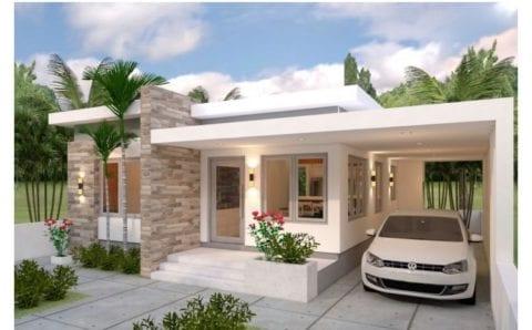 Planos gratis de casa de 10×13 con 3 habitaciones