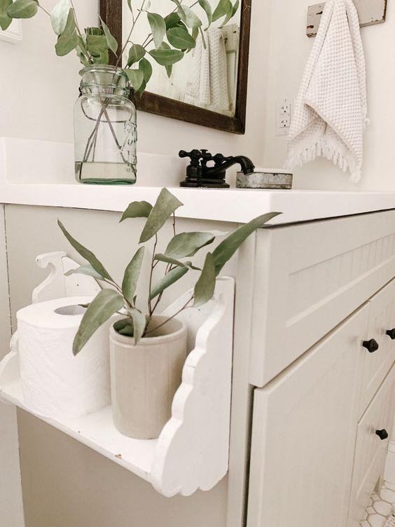 Repisa decorativa para poner papel higiénico
